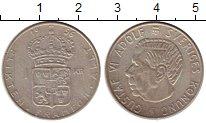 Изображение Монеты Швеция 1 крона 1956 Серебро XF Густав VI Адольф