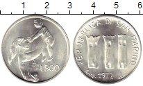 Изображение Монеты Сан-Марино 500 лир 1972 Серебро UNC-
