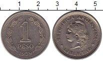 Изображение Монеты Аргентина 1 песо 1959 Медно-никель XF