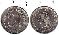 Изображение Монеты Южная Америка Аргентина 20 сентаво 1959 Медно-никель XF