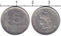 Изображение Монеты Аргентина 5 сентаво 1970 Алюминий XF