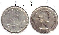 Изображение Монеты Канада 10 центов 1953 Серебро XF