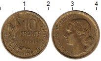 Изображение Монеты Франция 10 франков 1951 Латунь XF