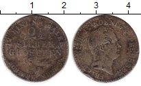 Изображение Монеты Германия Пруссия 2 1/2 гроша 1843 Серебро VF