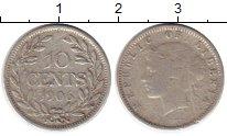 Изображение Монеты Либерия 10 центов 1906 Серебро VF