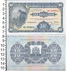 Изображение Банкноты Великобритания Гибралтар 10 шиллингов 2018  UNC