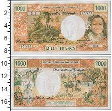 Изображение Банкноты Франция Новые Гебриды 1000 франков 1980  UNC