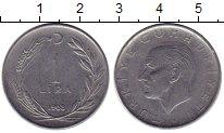 Изображение Монеты Турция 1 лира 1968 Сталь XF