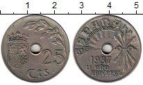 Изображение Монеты Европа Испания 25 сентаво 1937 Медно-никель XF