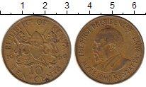 Изображение Монеты Кения 10 центов 1969 Латунь XF-