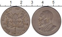 Изображение Монеты Кения 1 шиллинг 1968 Медно-никель XF Мзее Йомо Кеньятта