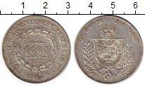 Изображение Монеты Южная Америка Бразилия 1000 рейс 1864 Серебро XF