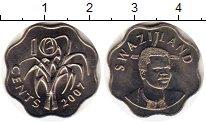 Изображение Монеты Африка Свазиленд 10 центов 2007 Медно-никель UNC
