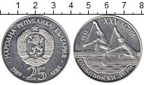 Изображение Монеты Болгария 25 лев 1989 Серебро Proof-