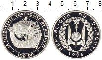 Изображение Монеты Африка Джибути 100 франков 1996 Серебро Proof