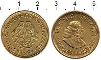 Изображение Монеты ЮАР 1/2 цента 1962 Латунь XF