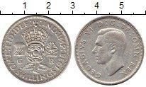 Изображение Монеты Великобритания 2 шиллинга 1938 Серебро VF Георг VI