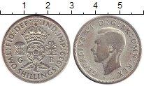 Изображение Монеты Великобритания 2 шиллинга 1939 Серебро VF Георг VI