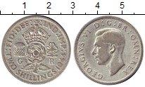 Изображение Монеты Великобритания 2 шиллинга 1944 Серебро VF Георг VI