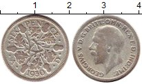 Изображение Монеты Европа Великобритания 6 пенсов 1930 Серебро VF