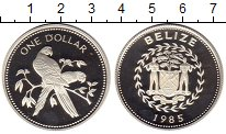 Изображение Монеты Белиз 1 доллар 1985 Серебро Proof