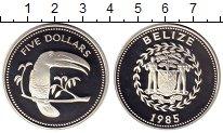 Изображение Монеты Белиз 5 долларов 1985 Серебро Proof