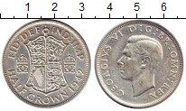 Изображение Монеты Великобритания 1/2 кроны 1942 Серебро VF