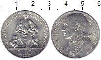 Изображение Монеты Ватикан 10 лир 1949 Алюминий UNC-