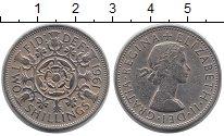 Изображение Монеты Великобритания 2 шиллинга 1961 Медно-никель XF Елизавета II