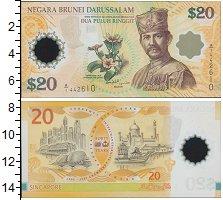 Изображение Банкноты Бруней 20 рингит 2007 Пластик UNC