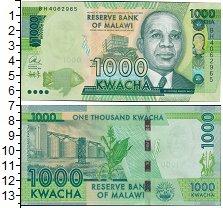 Изображение Банкноты Малави 1000 квач 2016  UNC
