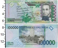 Изображение Банкноты Сан-Томе и Принсипи 100000 добрас 2013  UNC