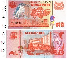 Изображение Банкноты Сингапур 10 долларов 0  UNC