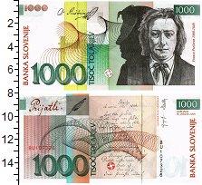 Изображение Банкноты Словения 1000 толар 2005  UNC