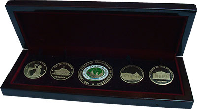 Изображение Подарочные монеты СНГ Узбекистан Главная избирательная комиссия Узбекистана 2016 Латунь UNC