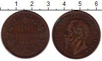 Изображение Монеты Италия 10 сентесим 1866 Медь XF-