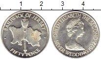 Изображение Монеты Великобритания Остров Джерси 50 пенсов 1972 Серебро UNC-