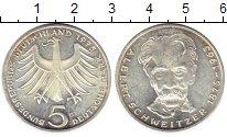 Изображение Монеты Германия ФРГ 5 марок 1975 Серебро UNC-