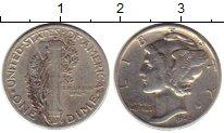 Изображение Монеты Северная Америка США 1 дайм 1945 Серебро XF