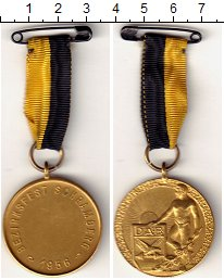 Изображение Монеты ФРГ Медаль 1956 Латунь UNC Спортивное общество