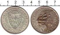 Изображение Монеты Веймарская республика 5 марок 1927 Серебро UNC-
