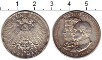 Изображение Монеты Германия 2 марки 1909 Серебро UNC-