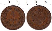 Изображение Монеты Европа Австрия 4 крейцера 1864 Медь VF