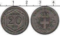 Изображение Монеты Италия 20 сентесим 1919 Медно-никель XF