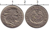 Изображение Монеты Колумбия 10 сентаво 1959 Медно-никель XF