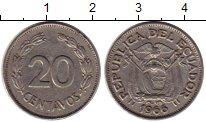 Изображение Монеты Южная Америка Эквадор 20 сентаво 1966 Медно-никель XF