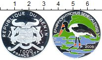 Изображение Монеты Бенин 1000 франков 2005 Серебро Proof-