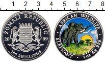 Изображение Монеты Сомали 100 шиллингов 2009 Серебро Proof