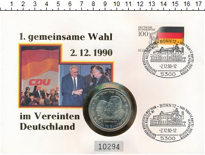 Изображение Подарочные монеты Европа Германия Медаль 1990 Медно-никель UNC