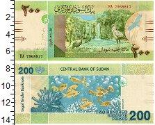 Изображение Банкноты Судан 200 фунтов 2019  UNC